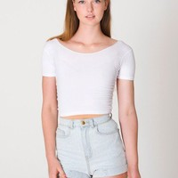 American Apparel - Cotton Spandex Jersey Crop Tee