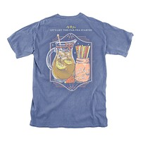 Par-Tea Started Tee in Marine Blue by Lily Grace