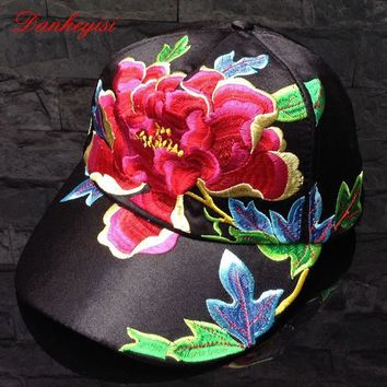 DANKEYISI Novelty Floral Running Baseball Cap Women Hat Adjustable Polo Cap Snapback F