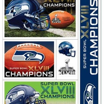 Seattle Seahawks Decal 11x17 Ultra - Super Bowl 48 Champ