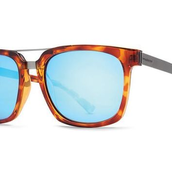 VonZipper - Plimpton Havana Tortoise TIH Sunglasses, Ice Blue Chrome Lenses
