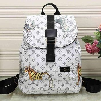 DCCKON Perfect LV Louis Vuitton Leather Travel Bag Backpack