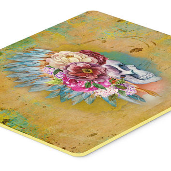 Day of the Dead Flowers Skull  Kitchen or Bath Mat 20x30 BB5129CMT