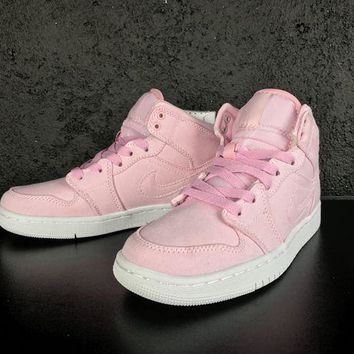UCANUJ3V Air Jordan 1 Retro AJ1 30th GG Pink White Women Sneaker-1
