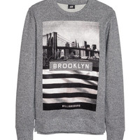 H&M - Sweatshirt - Gray - Men