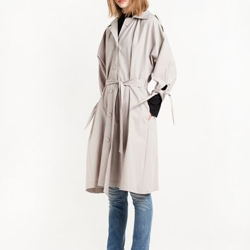 Sleeve Tie Trench Coat