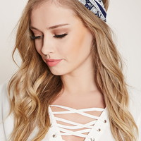 Floral Striped Headwrap