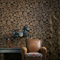 Lumberjack Wallpaper by Andrew Martin at Rose & Grey, Wallpaper