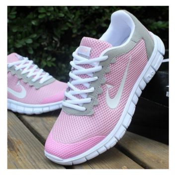 Women Men Running Sport Casual Shoes Sneakers Pink