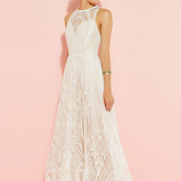 Ethereal Love Maxi Dress in White | Mod Retro Vintage Dresses | ModCloth.com