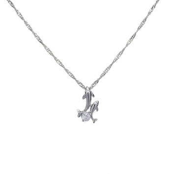Daya Dolphin Necklace Pendant with Crystal Rhinestone