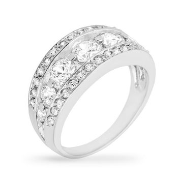 Ina Tier Eternity Anniversary Ring | 5ct | Cubic Zirconia | Silver