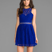 Style Stalker Bloc Party Dress in Blue