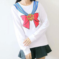 Sailor Moon 20th Anniversary Long Sleeve T-shirt Top Free Ship SP141129 from SpreePicky