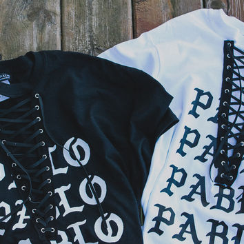 PABLO Laceup Tee