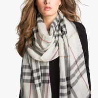 Burberry Giant Check Print Scarf   Nordstrom