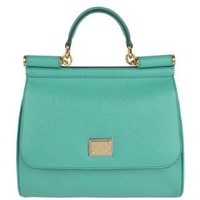 DOLCE AND GABBANA Small Saffiano Miss Sicily Bag - Flannels