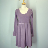 Vintage Thermal Dress / Grunge Dress / 80s Babydoll Dress