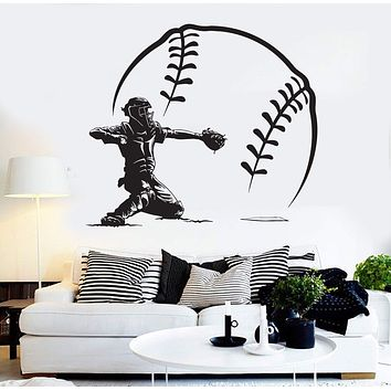 Vinyl Wall Decal Baseball Player Sports Pitcher Modern Home Decor Stickers Unique Gift (ig3636)