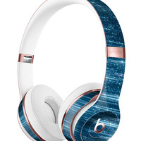 Radiant Blue Scratched Surface Full-Body Skin Kit for the Beats by Dre Solo 3 Wireless Headphones