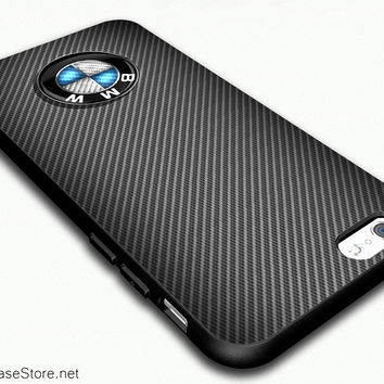 new arrival 70c1b acf21 BMW Carbon Fiber Look Costume Case Cover For iPhone 6 - iPhone 6 Plus