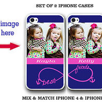 Custom Your Image Anchor BFF Best Friends iPhone Case - 2 iPhone 4 / 4S/ 5 Cases