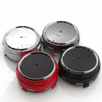 4pcs Red Black Silver Grey Hight Quality Car Wheel center hub caps emblem fit for Mercedes Amg Accessories Styling