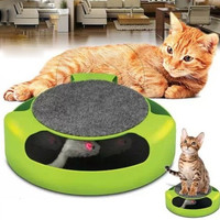 Pet cat toy cat board recreation game turntable (green) (Color: Green) = 1929817732