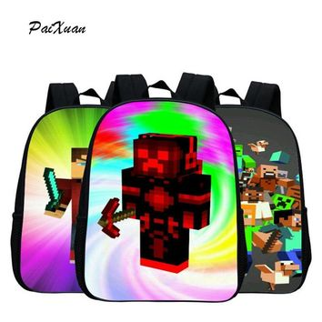 Kindergarten Children School Bag Minecraft Cartoon Backpack Printing School Bags For Boys Girls Small Backpacks Mochila Infantil