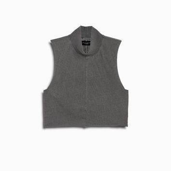 mock turtleneck sleeveless / vintage black