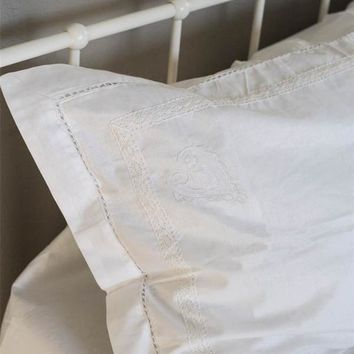 Spencerian Pillowcases (Pair)