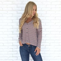 Best Of Friends Stripe Long Sleeve Top
