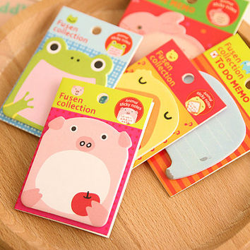 Animal Sticky notes-Kawaii Sticky notes-Kawaii Post It Notes-Panda sticky note-Page flags-Page Markers-Pig sticky notes
