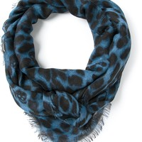 Alexander Mcqueen Skull And Leopard Print Pashmina Scarf