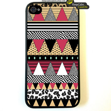 iPhone 4 Case Aztec Art Iphone 4s case Aztec On by KeepCalmCaseOn