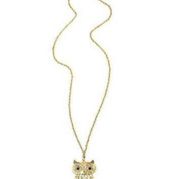 OWL PENDANT LONG NECKLACE