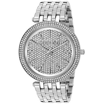 Michael Kors Women's MK3437 'Darci' Crystal Steel Watch