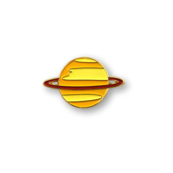 PRE-ORDER: SATURN Pin - Enamel Pin, Lapel pin.