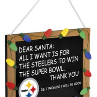 Pittsburgh Steelers Holiday Chalkboard Sign