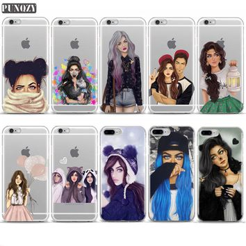 Best Friend School Girly-M Queen Case For iPhone 7 4S 5S SE 6S 7 8 Plus Muslim Women Soft TPU Silicone Cover For iPhone X Case