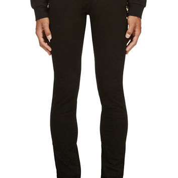 Versus Black Twill Safety Pin-trimmed Jeans