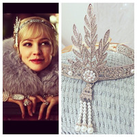 XMAS SALE! Great Gatsby headpiece, headband, downtown abbey, bridal tiara, roaring 1920's, flapper headband