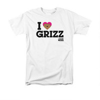 We Bare Bears Comic-Con 2015 I Heart Grizz Adult White T-Shirt | CartoonNetworkShop.com
