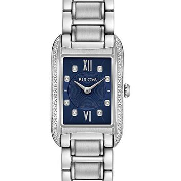 Bulova Womens 96R211 Analog Quartz Stainless Steel Diamond Watch