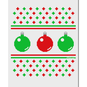 """Ugly Christmas Sweater Ornaments Aluminum 8 x 12"""" Sign"""