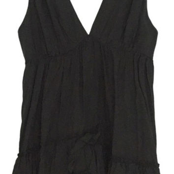 Cope Cocktail Casual Mini Short Knee Length V Neck Ruffle Dress S (Urban Outfitters)