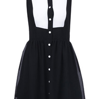 ROMWE | Black And White Cut-out Dress, The Latest Street Fashion