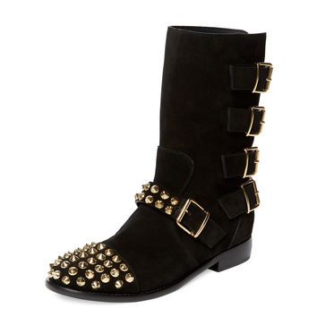 Cobain Studded Suede Boot