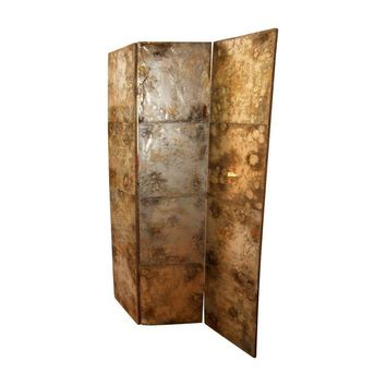 Pre-owned Mottled Mirror Room Divider