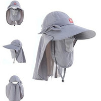 Naturehike Women Hat Sun Hat Anti-UV Hat Topee Ultralight Breathable Cap (Gray)